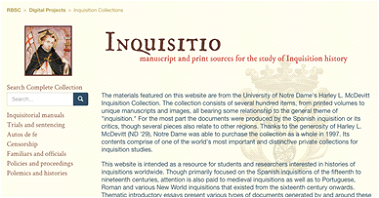 Inquisitions collection homepage